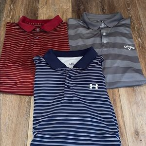 Three men's Golf Polo Style shirts size  XL Nike +